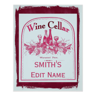 Wine Cellar Sign Edit Name change text