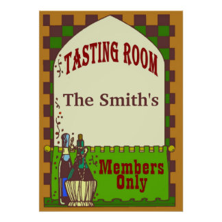 Wine Cellar Tasting Room Poster
