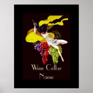 Wine Cellar Vintage Lady Edit Name Sign