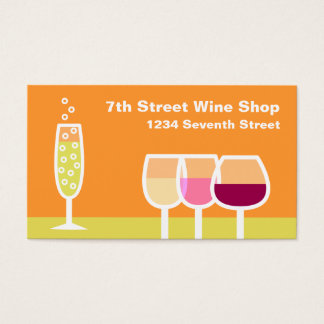 Wine & Champagne Business Card
