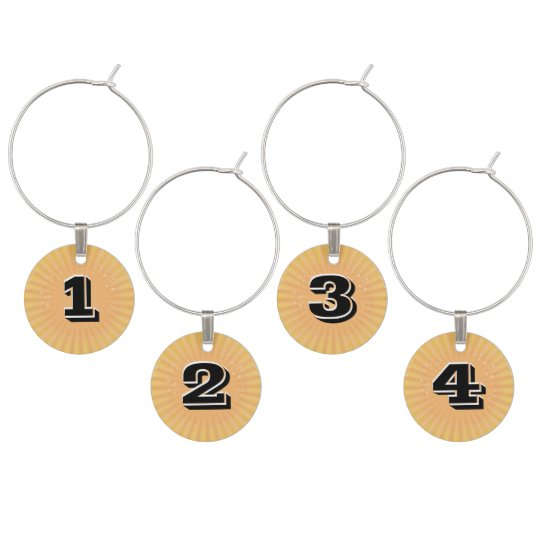 Wine Charms with Customizable Numbers