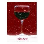 Wine Cheers Holiday Postcard Post Card