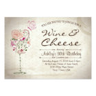 Wine & Cheese Birthday Invitation