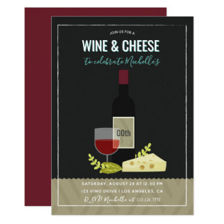 Wine & Cheese Birthday Party Invitation