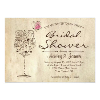 Wine & Cheese Bridal Shower Invitation