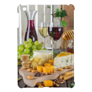 Wine & Cheese Cheeseplate Gastronomy, iPad Case