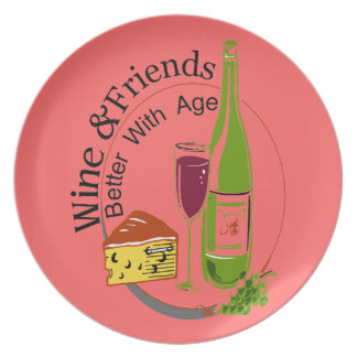 Wine Cheese Friends Plate