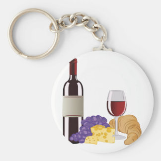 Wine & Cheese Keychain