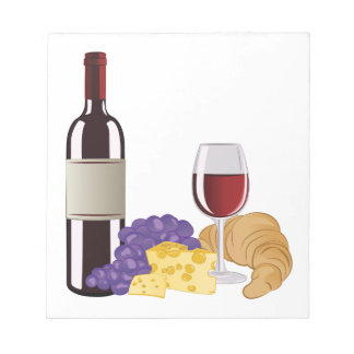 Wine & Cheese Notepads