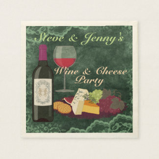 Wine & Cheese Party Paper Napkins