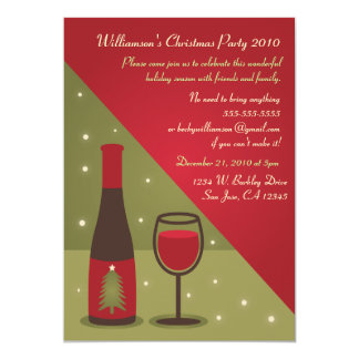 Wine Christmas Party Invitation