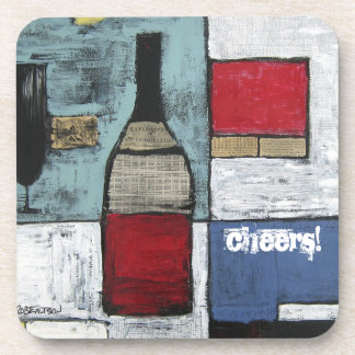 Wine Cocktail Cheers Coasters