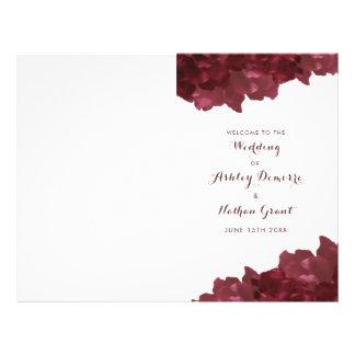 wine colored floral - wedding program