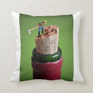 Wine cork - blank kiss throw pillow