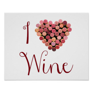 Wine Cork Heart Poster