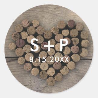 Wine Cork Heart Sticker