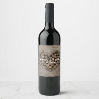 Wine Cork Heart  Wine Label