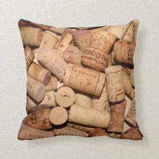 Wine Cork Throw Pillow