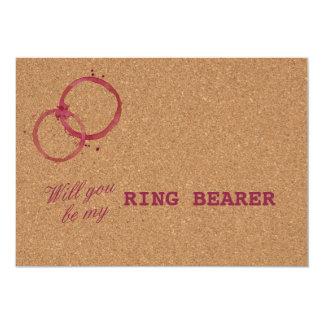 Wine Cork Wedding Will You Be My Ring Bearer Card