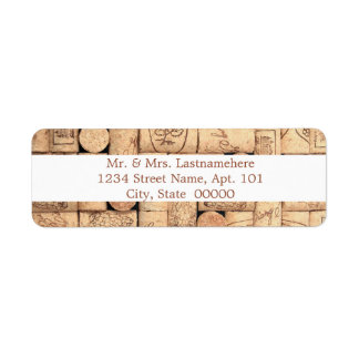 Wine Corks Address Labels