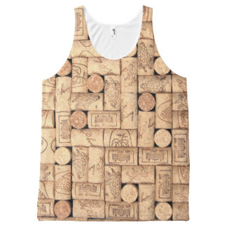Wine Corks All-Over-Print Tank Top