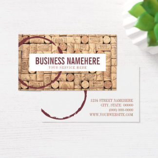 Wine Corks Business Card