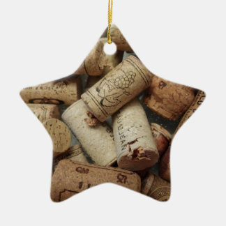 Wine Corks Ceramic Star Ornament