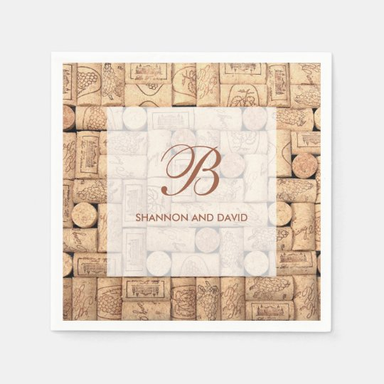 Wine Corks Custom Napkins Disposable Napkins