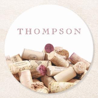 Wine Corks Custom Paper Coasters