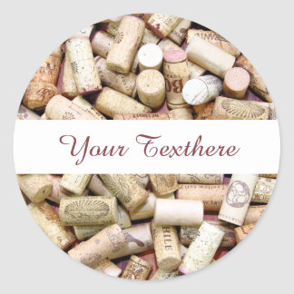 Wine Corks Custom Stickers
