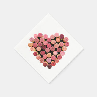Wine Corks Heart Napkins Disposable Napkins
