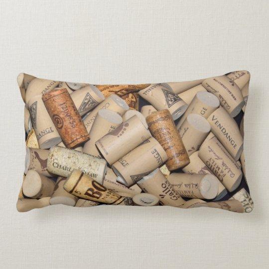 Wine Corks Lumbar Pillow