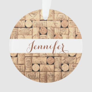Wine Corks Personalized Ornament