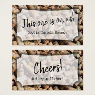 Wine Corks Photo, Wedding & Event Drink Tickets