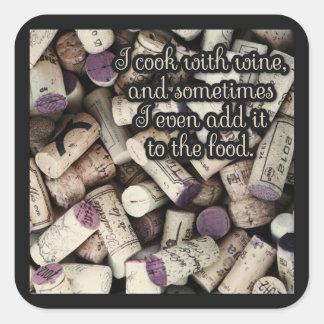 Wine Corks Quote stickers