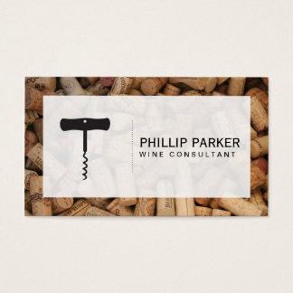 Wine | Corkscrew (cork pile) frame Business Card