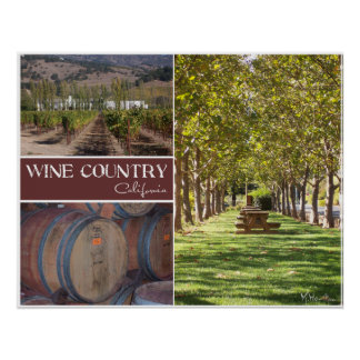 Wine Country, California Poster