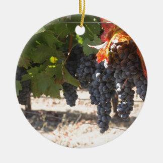 Wine Country Grapes Ceramic Ornament