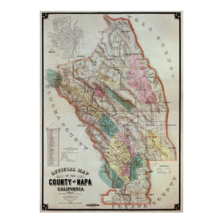 WINE COUNTRY - NAPA VALLEY CALIFORNIA  1895 POSTER
