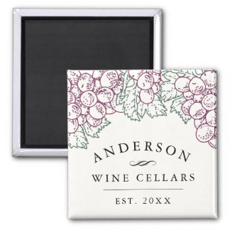 Wine Country | Personalized Home Wine Cellar Square Magnet