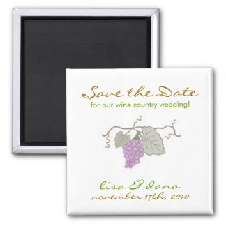 Wine Country Wedding grape vine Fridge Magnets