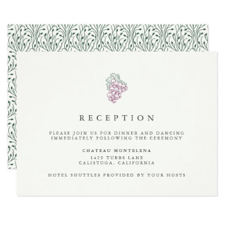 Wine Country | Wedding Reception Insert Card