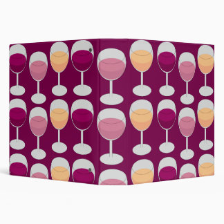 Wine Design 3 Ring Binder