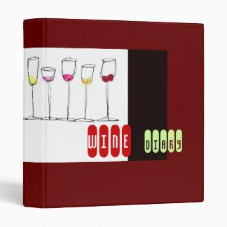 Wine Diary Journal Binders