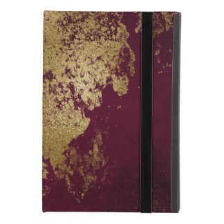 Wine Distressed Gold Texture iPad Mini 4 Case