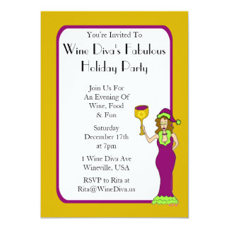 Wine Diva's Fabulous Holiday Party Card