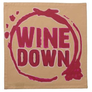 Wine Down fun cocktail napkin