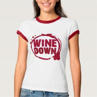 """WINE DOWN""....WINE STAIN DESIGN T-Shirt"