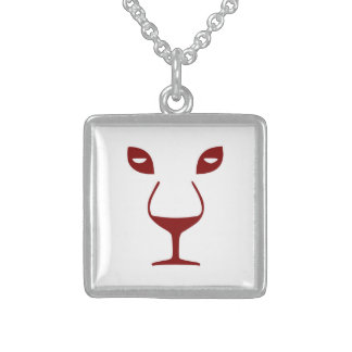 WINE FACE STERLING SILVER NECKLACE