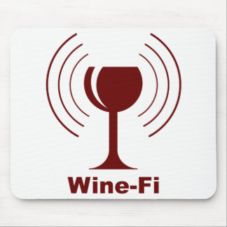 Wine-Fi Humor Mouse Pad